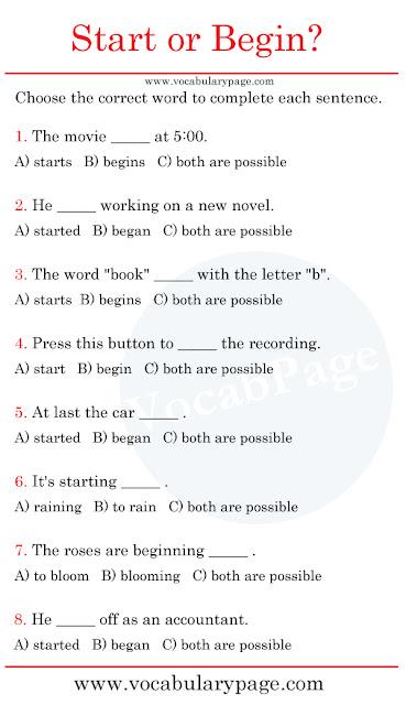 Start or Begin