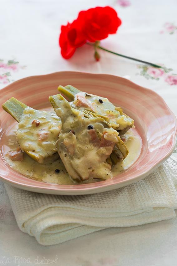 Alcachofas a la crema de tomillo y parmesano | la Rosa dulce | #sinlactosa #singluten