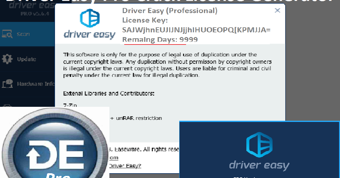 driver easy professional license key