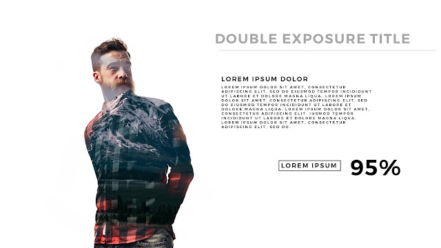 Double Exposure Photo Effects in Powerpoint slide1