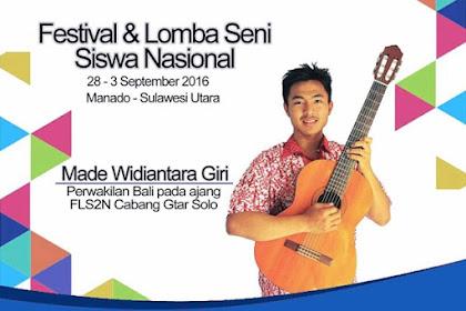 Festival dan Lomba Seni Siswa Nasional (FLS2N) 2016