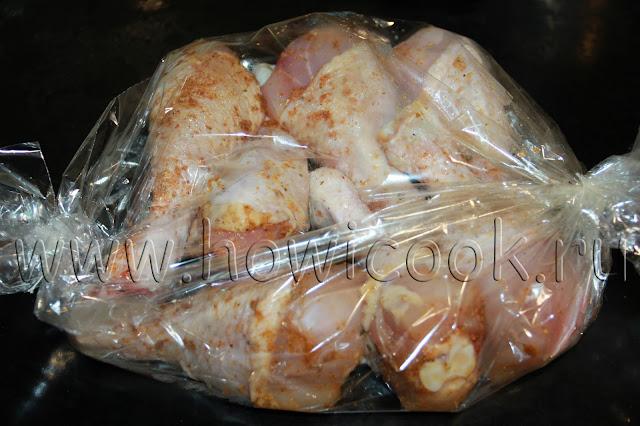 рецепт курицы в рукаве со специями с пошаговыми фото
