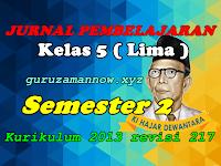 Jurnal Pembelajaran Tematik SD/MI Kelas 5 Semester 2 Kurikulum 2013 Revisi 2017