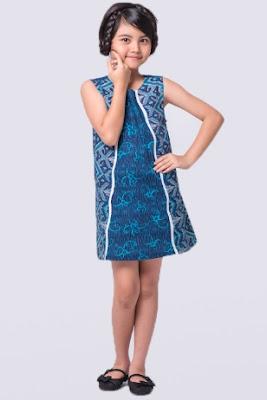desain baju batik anak perempuan modern