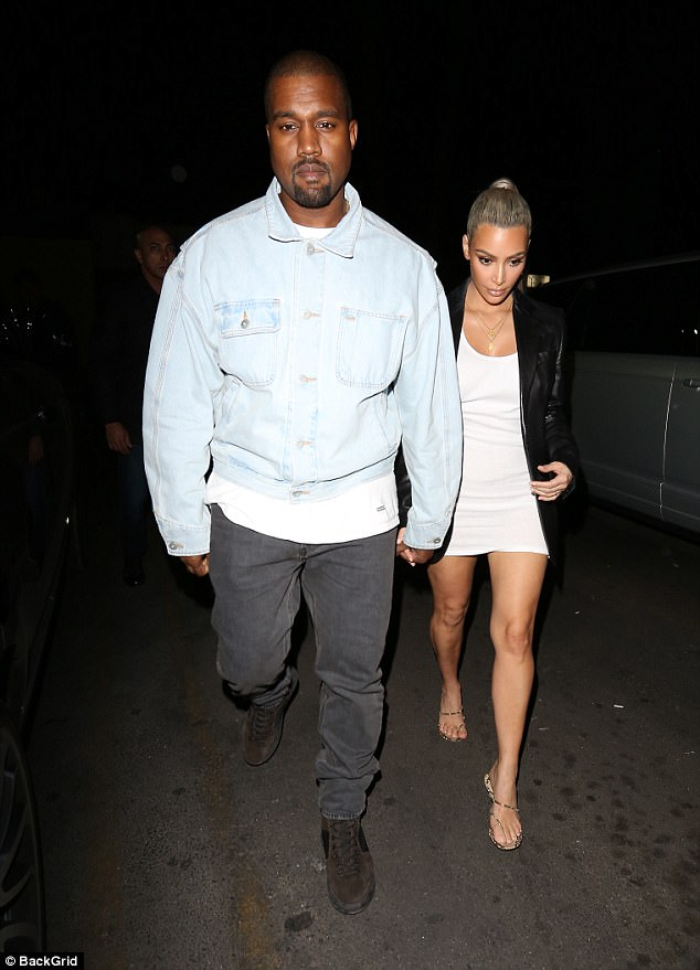 Kanye West Steps Out With Kim Kardashian For Her Belated Birthday Dinner