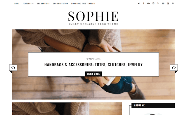 Sophie is amid 1 of the finest Minimalist Blogger Templates designed yesteryear Us amongst profes Free Download Sophie Blogger Template