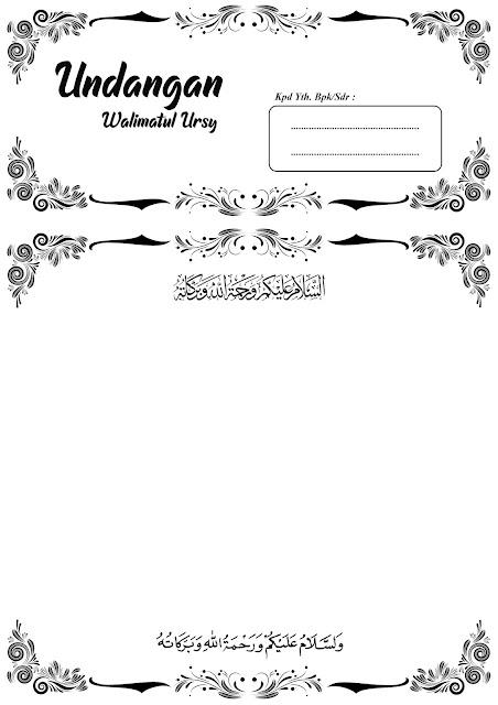 contoh undangan walimatul ursy A4, F4, 2 sisi, 3 sisi