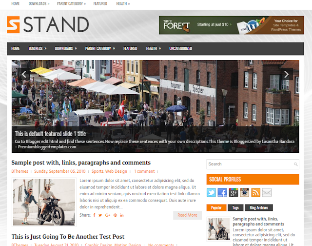 Stand Blogger Template