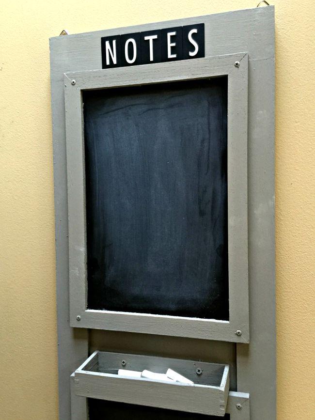 Double Chalkboard Message Center