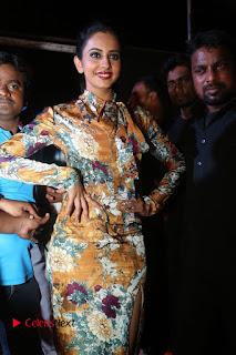 Actress Rakul Preet Singh Stills in Short Dress at Dhruva Pre Release Function  0003.JPG