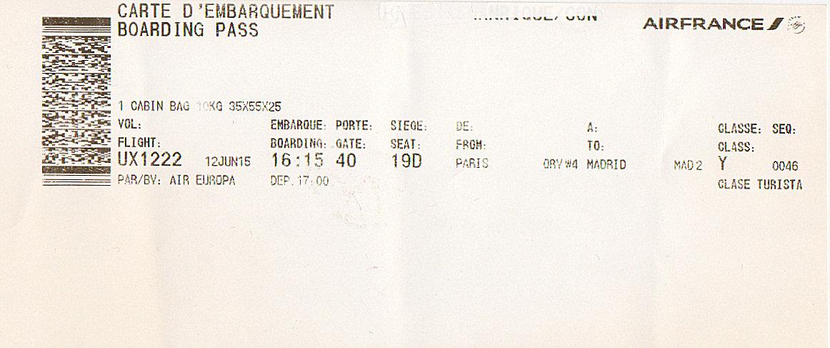The traveler's drawer: AIR FRANCE pour AIR EUROPA. Carte d ...