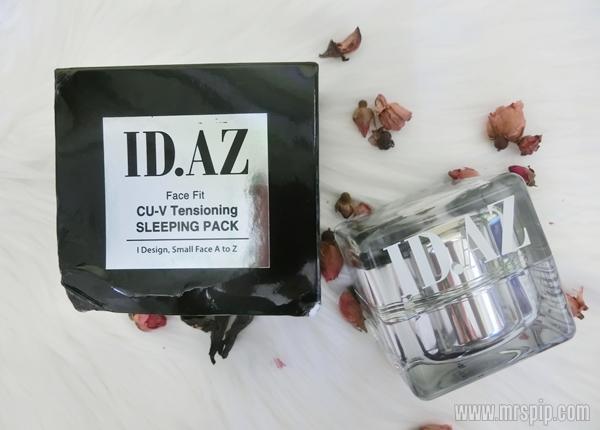 ID.AZ Face Fit CU-V Tensioning Sleeping Pack mampu membantu kurangkan garis halus dan kedutan pada wajah