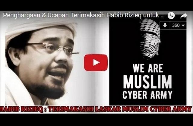 Dari Tanah Suci, Habib Rizieq Sampaikan �Penghargaan dan Terimakasih Untuk Laskar Muslim Cyber Army�