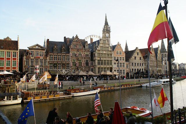 Belgian flag in Ghent