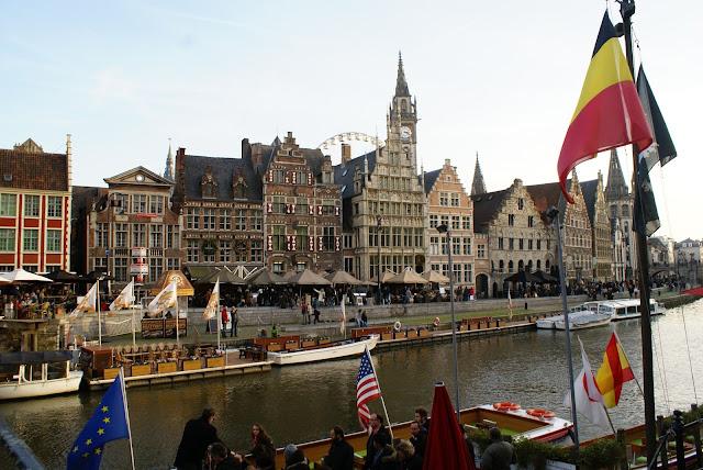 Belgian flag in Ghent