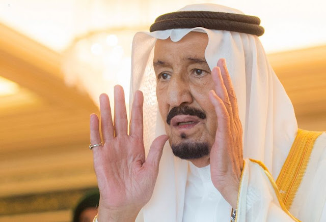 SAUDI KING SALMAN AT MAKKAH GRAND MOSQUE