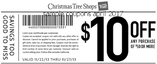 Christmas Tree Shops coupons april