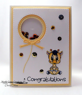 North Coast Creations Stamps & Dies: Bundle of Joy, ODBD Custom Dies: Pierced Circles, Circles, Pierced Rectangles, Happy Birthday, Circle Ornament, Double Stitched Rectangles