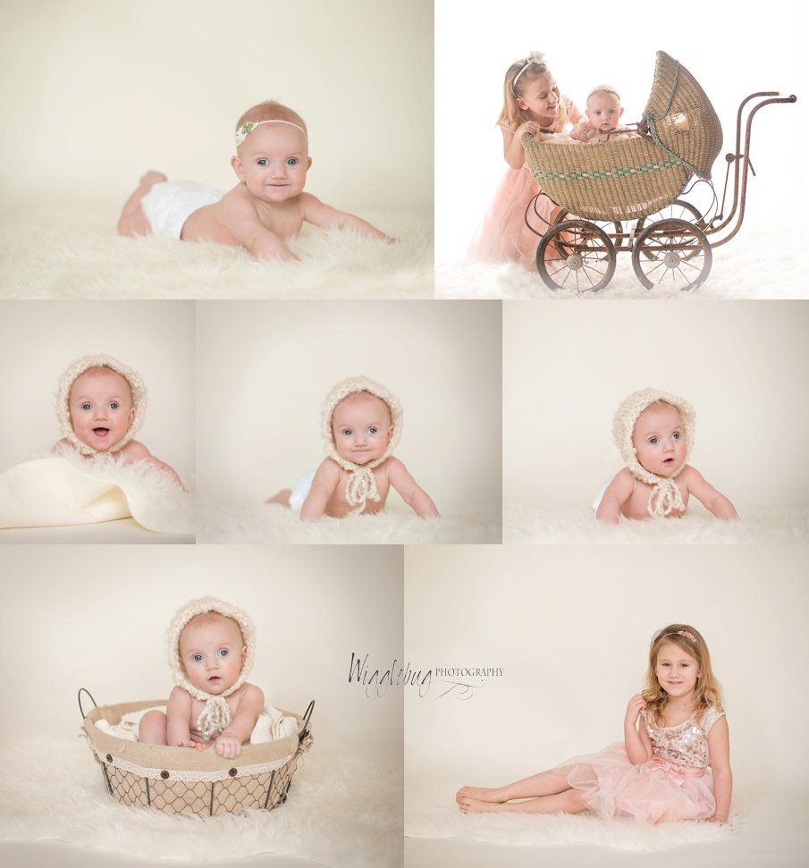Beautiful sister photos with dream lighting 5 year old and 5 month old girls