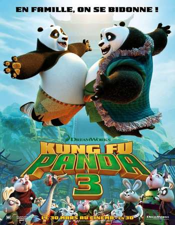 Poster Of Kung Fu Panda 3 2016 Dual Audio 720p HDRip [Hindi - English] Free Download Watch Online