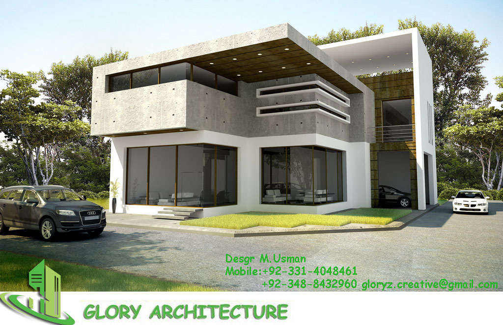 1 kanal house elevation glory architecture for 4 1 architecture view