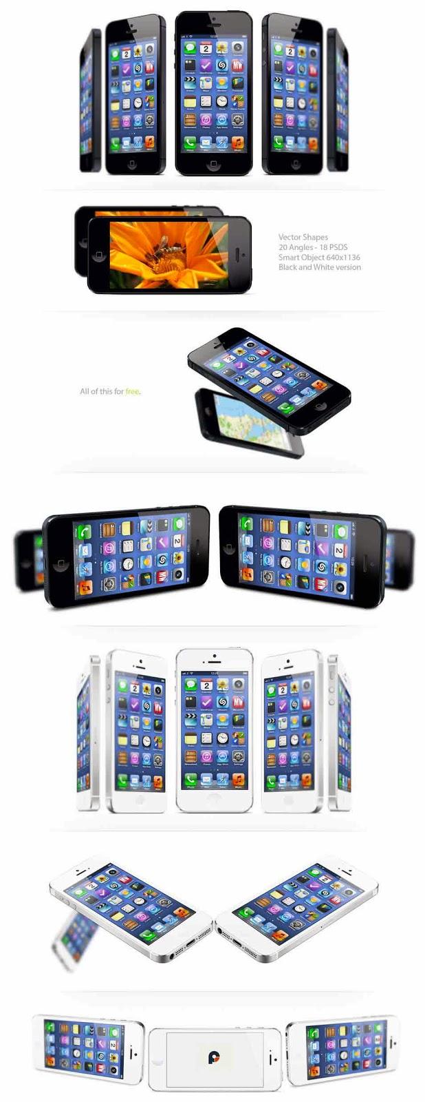 iPhone 5 Mock-ups PSD Template