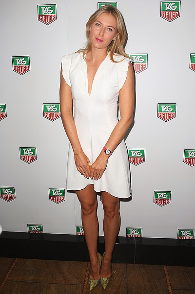 Tennis player Maria Sharapova visited party watch brand Tag Heuer