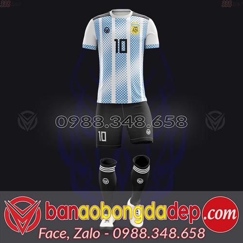 Áo Đội Tuyển Đặt May Theo Yêu Cầu - Mã ARGENTINA-03