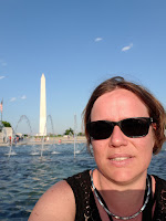 Bianca voor het National Monument in Washington