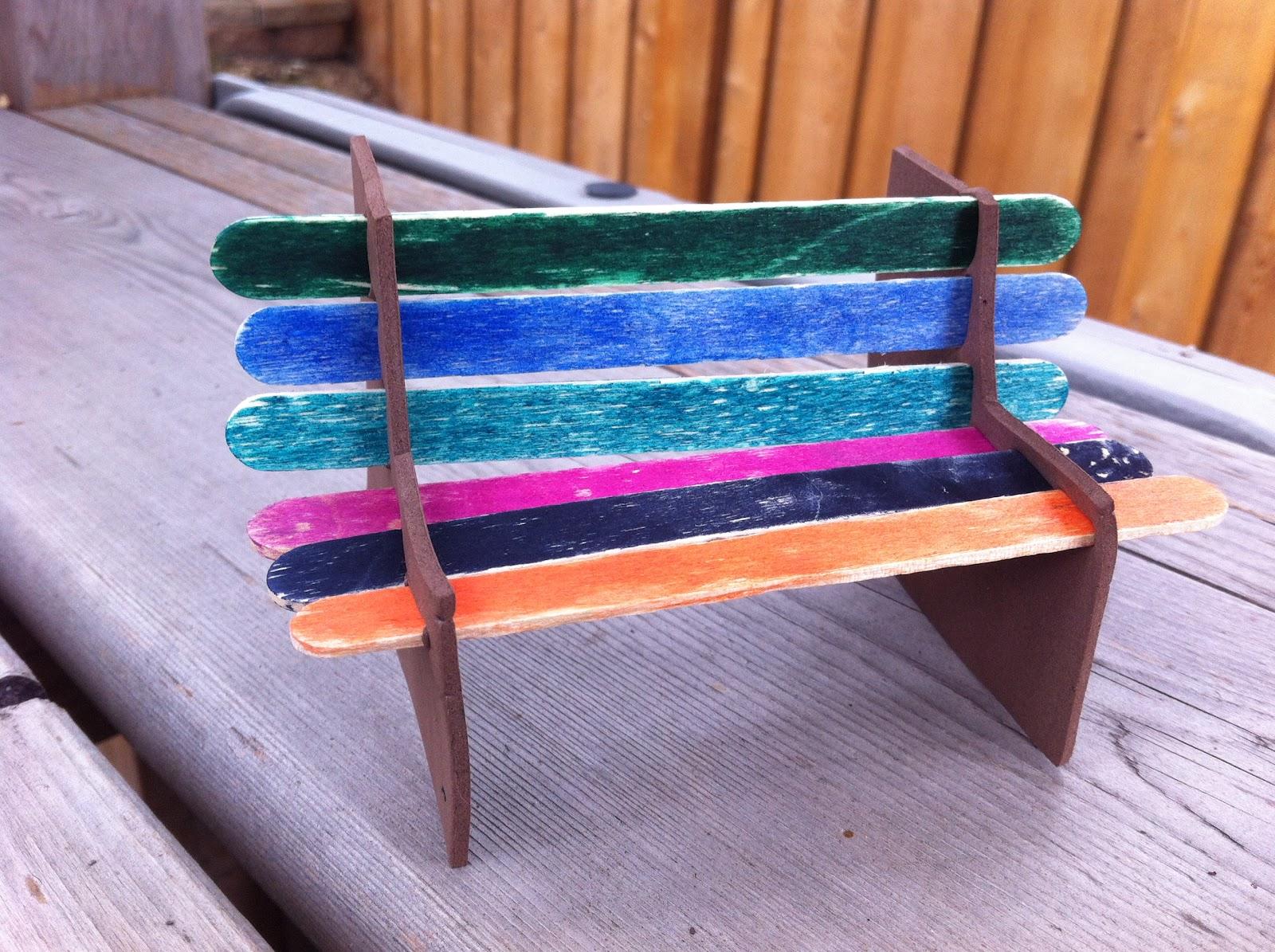 Popsicle Stick Park Bench