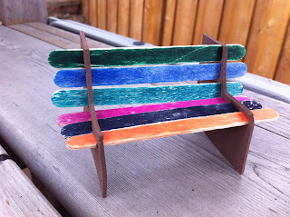 Popsicle Stick Park Bench