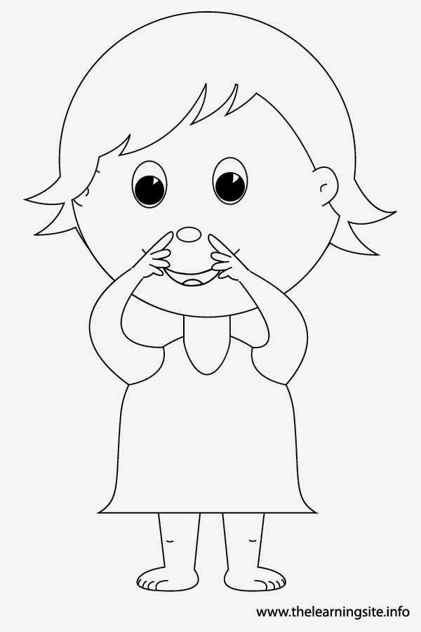 child body outline coloring page - kid body outline coloring pages
