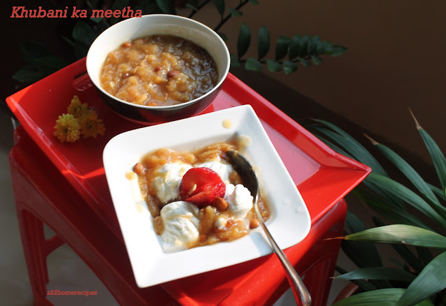 Khubani ka meetha(Dried apricot dessert)