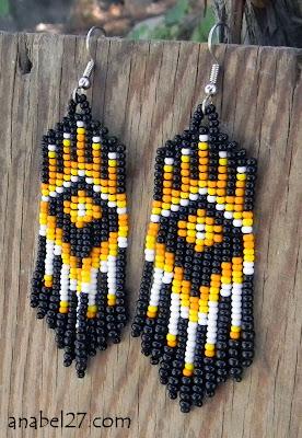 купить этническую бижутерию ручной работы яркие сережки с бахромой