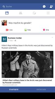 Facebook Inroduce a Bottom Navigation Bar in German