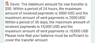 payoneer transfer limits