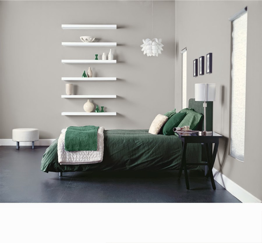 Kamar Tidur Minimalis warna hijau