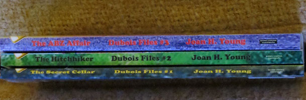 covers of the first three Dubois Files children's mysteries