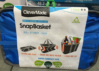 Costco 1063337 - Clevermade SnapBasket Snap Up Shopping/Utility Tote - Don't let the small size fool you; this packs all of your essentials