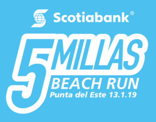 5 millas Scotiabank (8k beach run en Punta del Este - Maldonado, 13/ene/2019)