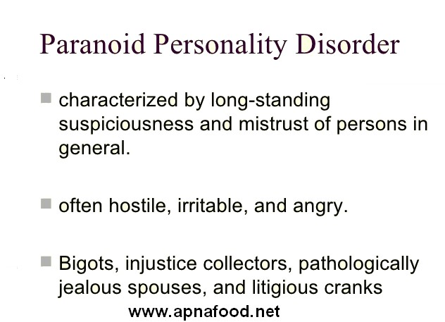 an introduction to paranoid personality disorder An introduction to paranoid personality disorder definition the name of this disorder is originally comes from the greek word for 'madness' those who suffering.