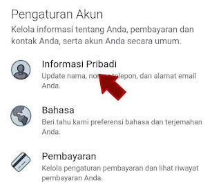 Tap informasi pribadi