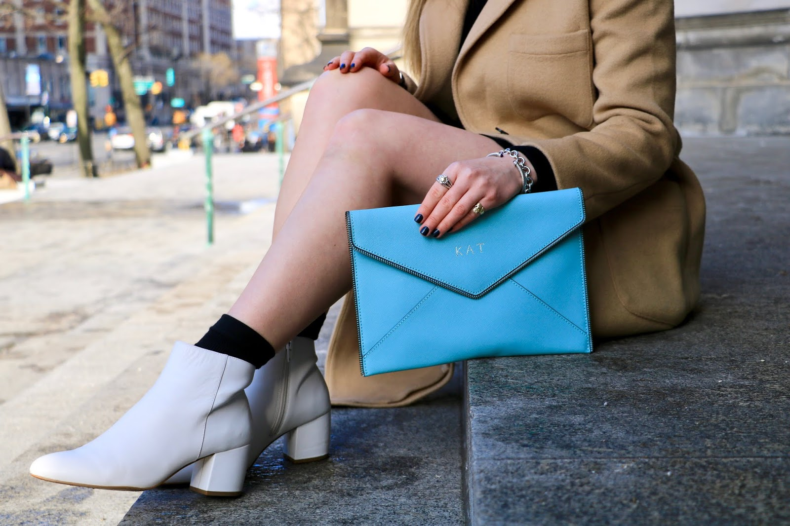 Nyc fashion blogger Kathleen Harper's favorite white booties