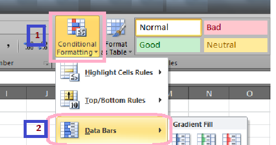 how to create progress bar in excel