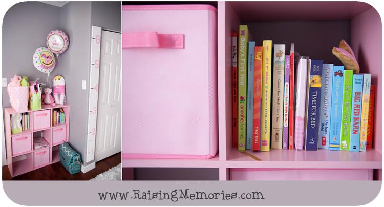 Target Bookshelf Baby Nursery www.RaisingMemories.com