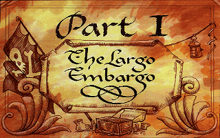 Monkey Island 2 Part 1 The Largo Embargo title card