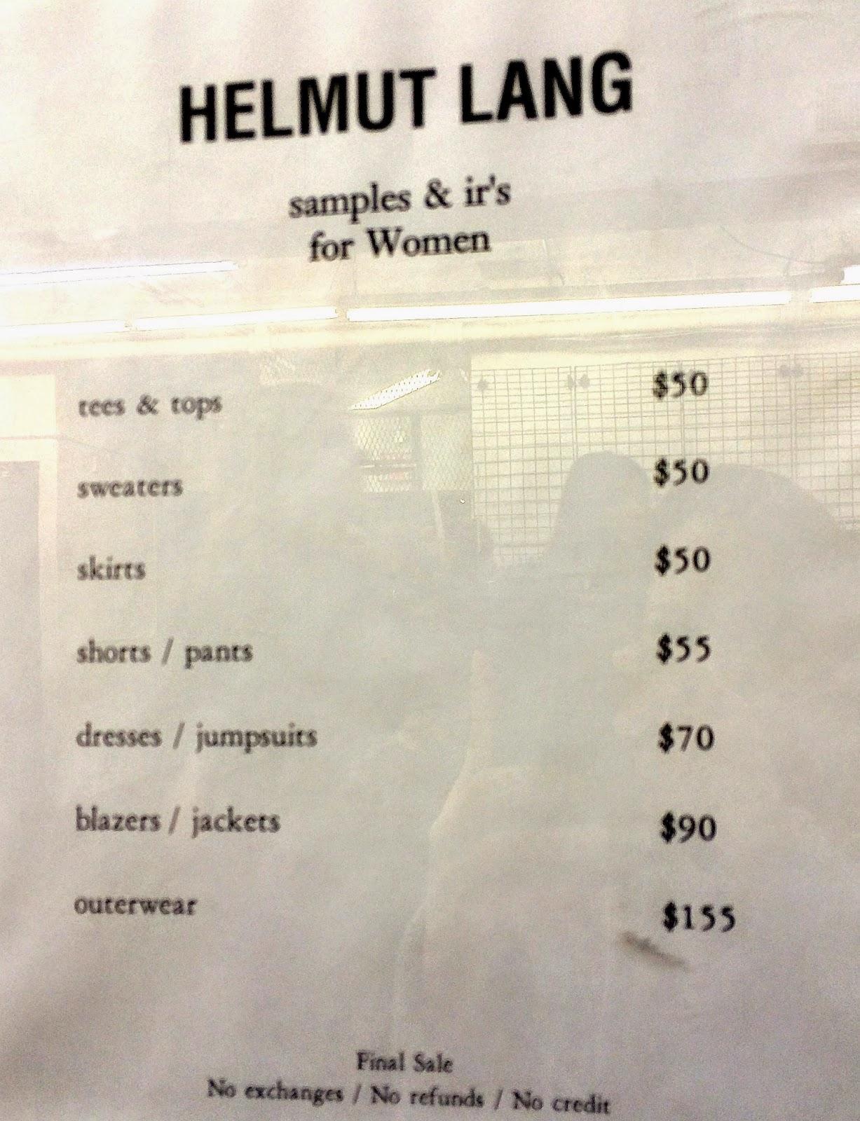 97e64120fa fashionably petite: Theory & Helmut Lang Sample Sale for Men & Women