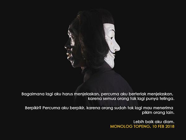 Monolog Topeng, Sebuah Pertunjukan Pemberontakan Waska
