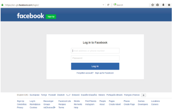 Facebook Login Com Sign In