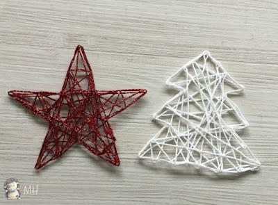 Figuras navideñas con hilos